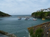 Port Isaac harbour at high tide