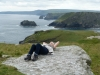 Laid back on Tintagel